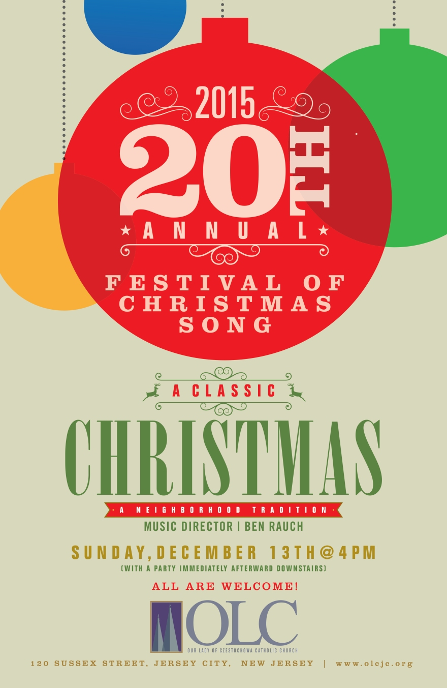 Festival Of Christmas Song - 20th Anniversary Poster