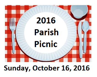 2016 Parish Picnic Sunday 10-16-16